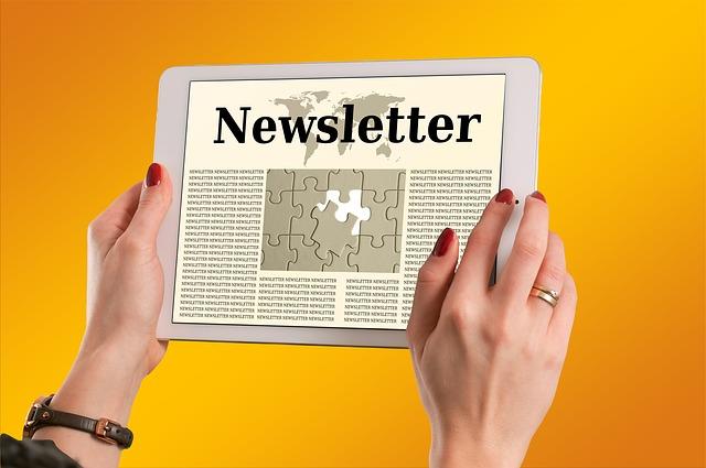 newsletter v tabletu