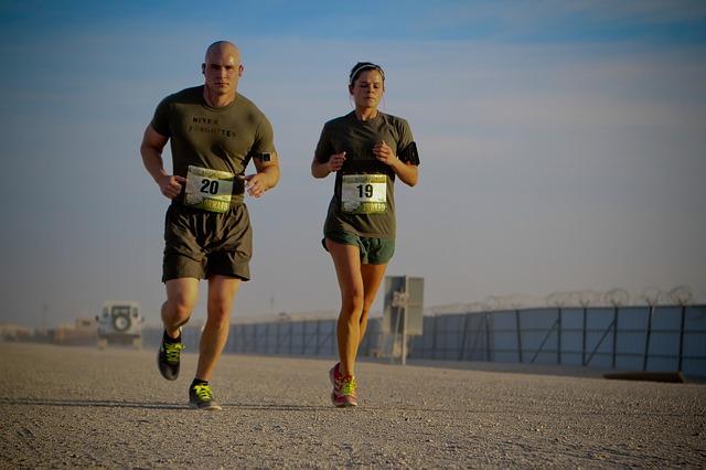 běh vojáků
