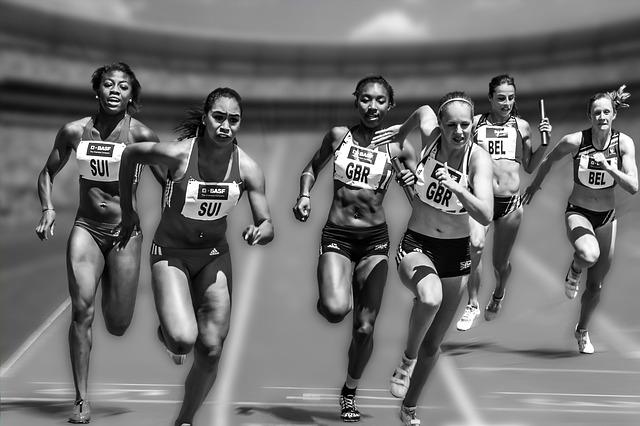 štafetový závod žen