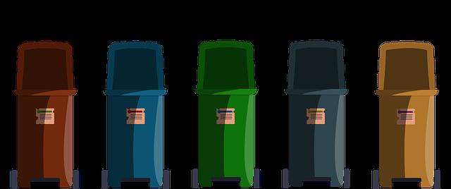 popelnice na třídění odpadu