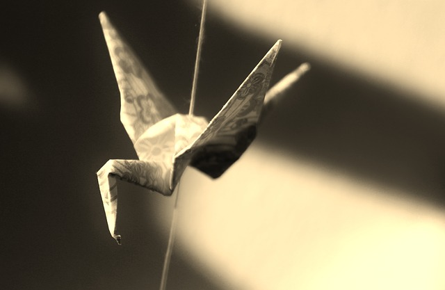 origami pták
